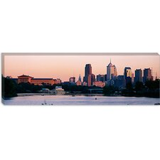 <strong>iCanvasArt</strong> Buildings On The Waterfront, Philadelphia, Pennsylvania, Canvas Wall Art