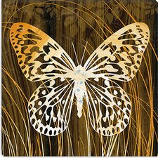 """Butterflies & Leaves"" Canvas Wall Art by Erin Clark"