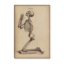 "<strong>iCanvasArt</strong> ""A Praying Skeleton"" Canvas Wall Art by William Cheselden"