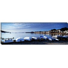 <strong>iCanvasArt</strong> Boats on the Beach, Instow, North Devon, Devon, England Canvas Wall Art