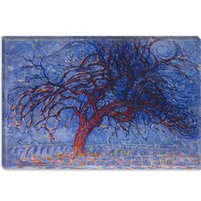 "<strong>iCanvasArt</strong> ""Avond (Evening) The Red Tree, 1910"" Canvas Wall Art by Piet Mondrian"