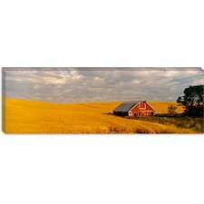 Barn in a Wheat Field in Palouse, Washington Canvas Wall Art