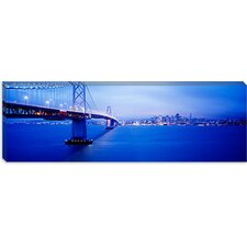 <strong>iCanvasArt</strong> Bay Bridge San Francisco, California Canvas Wall Art