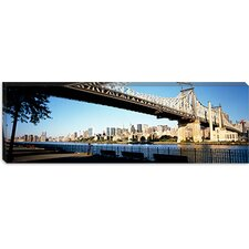 <strong>iCanvasArt</strong> Queensboro Bridge, East River, Manhattan, New York City, New York State Canvas Wall Art