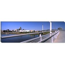 Bob Kerrey Pedestrian Bridge, Missouri River, Omaha, Nebraska Canvas Wall Art