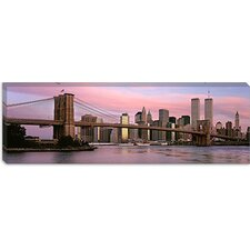Brooklyn Bridge, Manhattan, New York City, New York State Canvas Wall Art
