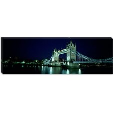 Tower Bridge, Thames River, London, England Canvas Wall Art