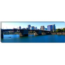 Burnside Bridge, Willamette River, Portland, Multnomah County, Oregon 2010 Canvas Wall Art