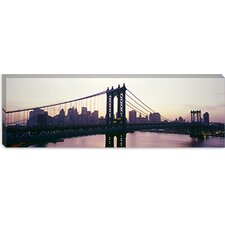 <strong>iCanvasArt</strong> Manhattan Bridge, East River, Manhattan, New York City, New York State Canvas Wall Art