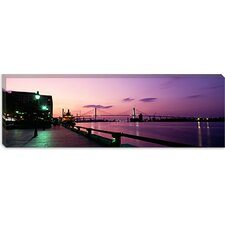 Bridge Across a River, Savannah River, Atlanta, Georgia Canvas Wall Art