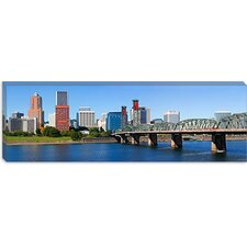 Hawthorne Bridge, Willamette River, Multnomah County, Portland, Oregon 2010 Canvas Wall Art