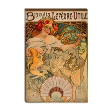 """Biscuits Lefevre Utile"" Canvas Wall Art by Alphonse Mucha"