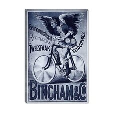 <strong>iCanvasArt</strong> Bincham and Co. Bicycle Advertising Vintage Poster