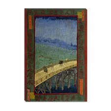 """Bridge in the Rain (After Hiroshige)"" Canvas Wall Art by Vincent van Gogh"