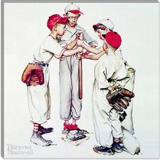 "<strong>iCanvasArt</strong> ""Choosing up (Four Sporting Boys: Baseball)"" Canvas Wall Art by Norman Rockwell"
