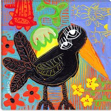 "<strong>iCanvasArt</strong> ""Blackbird Boogie"" Canvas Wall Art by Sara Catena"