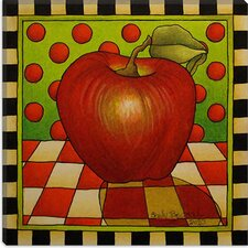 """Be Bop a Lula Apple"" Canvas Wall Art by Shelly Bedsaul"
