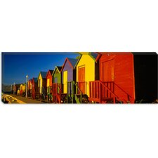 <strong>iCanvasArt</strong> Beach Huts in Cape Town, South Africa Canvas Wall Art