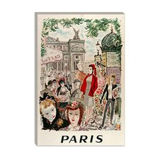 <strong>iCanvasArt</strong> Beautiful Paris from Vintage Apple Canvas Wall Art