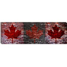 Canadian Flag, Maple Leaf Panoramic Graphic Art on Canvas