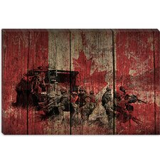 <strong>iCanvasArt</strong> Canadian Military Army #2 Canvas Wall Art