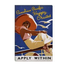 <strong>iCanvasArt</strong> Apply Within (Canadian Pacific Happy Cruises) Advertising Vintage Poster