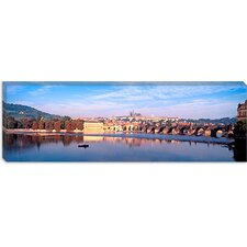 <strong>iCanvasArt</strong> Charles Bridge, Hradcany Castle and St. Vitus Cathedral , Prague, Czech Republic Canvas Wall Art