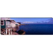Cabanas on The Beach, Bermuda Canvas Wall Art
