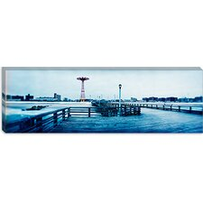 City in Winter, Coney Island, Brooklyn, New York City, New York State Canvas Wall Art
