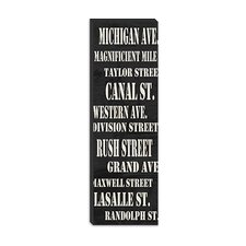 <strong>iCanvasArt</strong> Chicago Streets from Willow Way Studios, Inc Canvas Wall Art