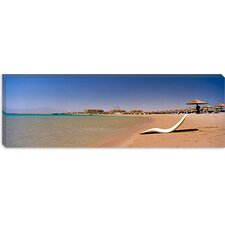 Chaise Longue on The Beach, Soma Bay, Hurghada, Egypt Canvas Wall Art