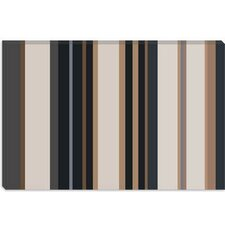 <strong>iCanvasArt</strong> Charcoal Khaki Brown Striped Art Canvas Wall Art