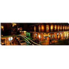 Panoramic Bourbon Street New Orleans Los Angeles Photographic Print on Canvas