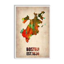 "<strong>iCanvasArt</strong> ""Boston Watercolor Map"" Canvas Wall Art from Naxart"