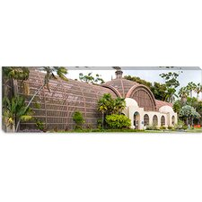Panoramic Botanical Building in Balboa Park, San Diego, California Photographic Print on Canvas