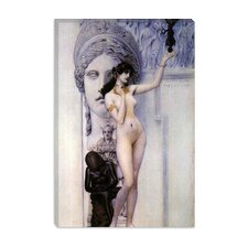 "<strong>iCanvasArt</strong> ""Allegory of Skulpture"" Canvas Wall Art by Gustav Klimt"