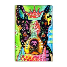 "<strong>iCanvasArt</strong> ""Boston Terrier Crowned"" Canvas Wall Art by Dean Russo"
