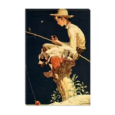"""Boy Fishing"" Canvas Wall Art by Norman Rockwell"