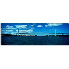 <strong>iCanvasArt</strong> Ambassador Bridge, Detroit River, Detroit, Wayne County, Michigan Canvas Wall Art