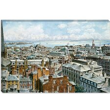"<strong>iCanvasArt</strong> ""Boston: East From St House 1876"" Canvas Wall Art by Stanton Manolakas"