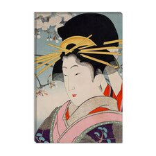 <strong>iCanvasArt</strong> A Courtesan Japanese Woodblock Canvas Wall Art