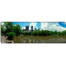 Pond in an Urban Park, New York City Canvas Wall Art