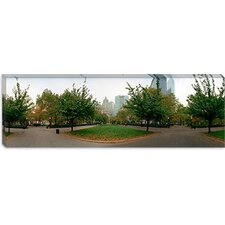 <strong>iCanvasArt</strong> Public Park, Battery Park, New York City Canvas Wall Art