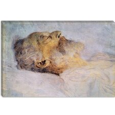 """Alter Mann Auf Dem Totenbett (Old Man on the Deathbed)"" Canvas Wall Art by Gustav Klimt"