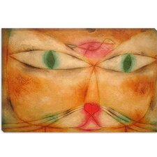 "<strong>iCanvasArt</strong> ""Cat and Bird"" Canvas Wall Art by Paul Klee"