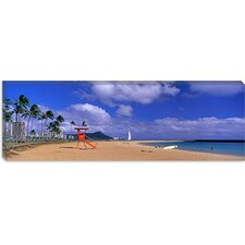 Ala Moana Beach Honolulu HI Canvas Wall Art