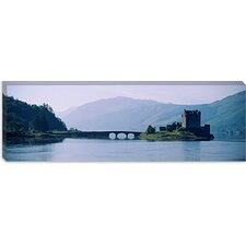 Castle at The lakeside, Eilean Donan Castle, Scotland Canvas Wall Art