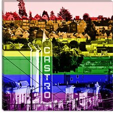 <strong>iCanvasArt</strong> Castro District in San Francisco, Gay Flag Canvas Wall Art