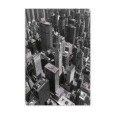 "<strong>iCanvasArt</strong> ""Chrysler Building and Midtown Manhattan"" Canvas Wall Art by Chris Bliss"
