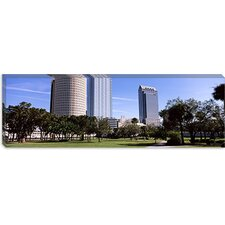 Buildings in a City Viewed from a Park, Plant Park, University of Tampa, Tampa, Hillsborough County, Florida Canvas Wall Art